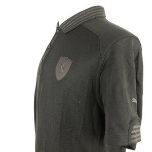 PUMA Shirts - Puma Scuderia Ferrari Polo Shirt Large Black Gray